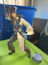 "18"" Captain Jack Sparrow Talking Doll Johnny Depp 2007 Neca Great Detail Must Se"