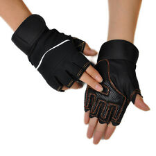 Outdoor Sport Gym Workout Weight Lifting Training Fingerless Gloves BK Free Xmas