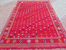 """Anatolia Antalya Nomads Wool Kilim 73,2"""" x 107"""" Area Rug Kelim Carpet Rugs"""