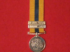 Miniature Khedives Sudan Medal 1896 with 2 clasps and ribbon BRAND NEW