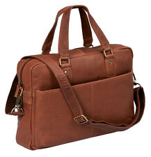 ''Stanford'' - Laptoptasche by CB in Echt-Leder, cognac - ''LEAS Classic Bags''