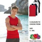 Single Fruit of the loom Cotton Sleeveless Tank Top Gym Muscle T Shirt Vest Top