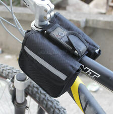 New Cycling Bike Sport Bicycle Frame Pannier Front Tube Both-Side Bag Black