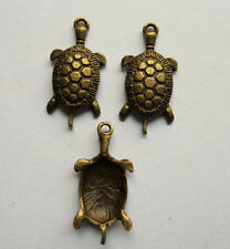 15pcs bronze plated tortoise charm pendant 31x15 mm