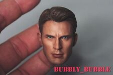 1/6 Chris Evan Captain America 5.0 Head Sculpt For Hot Toys Body ☆SHIP FROM USA☆