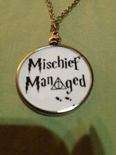 Harry Potter Saying doublesided Charm Pendant Mischief Managed White 2W