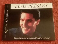 Elvis Presley: Quote Unquote by RH Disney Staff (1995, Hardcover)