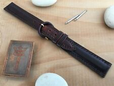 "5/8"" 16mm Hadley Roma USA Made Pull-Up Leather New Old Vintage Watch Band nos"