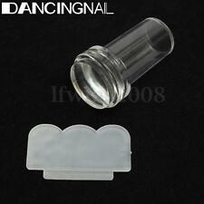 Transparent Silicone Stamping Tampon Vernis à Ongles Stamp Gel Pochoir Nail Art