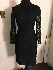 New J Crew Collection Black Lace Dress long Sleeve Little Black Dress size XS/0