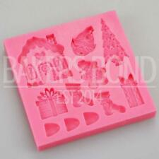 Christmas Silicone Mould - Gingerbread House Elf Tree Present Stocking Fondant