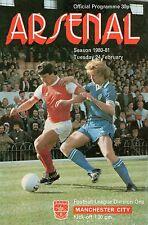 PROGRAMME ARSENAL FC PROGRAMMES X6 (1981, 1984, 1986, 1989, 1990 & 1991)