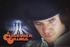 CLOCKWORK ORANGE MOVIE POSTER (91x61cm) GROUP CAST ALLEY PICTURE NEW ART