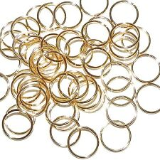 M429f Gold-Plated Brass 18 Gauge 12mm Smooth Round Jumpring Findings 100/pkg