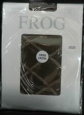 Frog Ladies Large Criss Cross Patterned Tights One Size Chocolate C038.N009