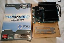 Sapphire Ultimate Radeon HD 6670 PASSIVE SILENT PC HP Ati Nvidia HDMI DisplayPort