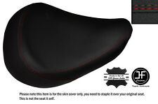 DARK RED DS STICH CUSTOM FITS HONDA SHADOW VT 125 99-07 FRONT LEATHER SEAT COVER