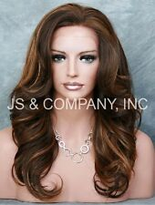 Brown mix HEAT SAFE Lace Front Wig Curly Long Layered NBY 4-28