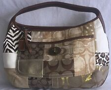 COACH ERGO BROWN PATCHWORK HOBO SHOULDER HANDBAG PURSE 10809 NWOT