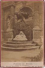 Fontaine Médicis L'Amour d'Acis et Galatée Paris Vintage albumine ca 1880