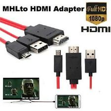 1080P MHL Micro USB HDMI HDTV ADAPTER CABLE FOR SAMSUNG GALAXY S3 S4 UK Seller