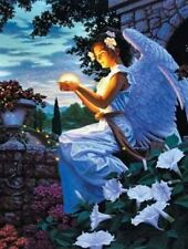 Beautiful Matted Angel's Gift Foil Religious 8x10 Affordable Art Print