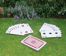 A3 GIANT 37CM FULL DECK 52 PLAYING CARDS SCHOOL MAGIC GARDEN OUTDOOR POKER PLAY