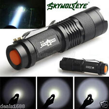Mini A zoom Regolabile CREE Q5 LED Flashlight Torcia 7W 1200LM regolabile Focus