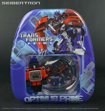 OPTIMUS PRIME Transformers Prime Watch, Clock and Mini Backpack Set New