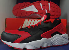 Nike Air Huarache Run iD Black University Red White SZ 9.5 ( 777330-994 )