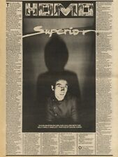 28/11/81PGN13 ARTICLE & PICTURE, PETE SHELLEY
