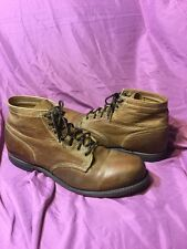 FRYE Arkansas Mid Leather Boots Made in U.S.A. Brown Men's sz 14 - Vintage Chukk