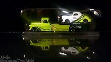 Maisto 1:64 All Stars Elite Transport 1957 Chevrolet Flatbed 1941 Willy Coupe
