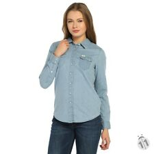 BNWT LEE REGULAR WESTERN LADIES SHIRT DELFT BLUE L516MHCO SMALL
