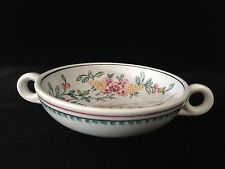 "Vintage Outeiro Agueda Portugal Handpainted Bowl w/Handles, 5 1/2"" D x 1 1/2"" H"