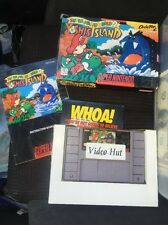 Super Mario World 2: Yoshi's Island (SNES, 1995) Complete In Box Manual Game CIB