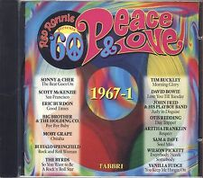 RED RONNIE - Peace & lOVE 1967-1 SONNY & CHER TIM BUCKLEY ERIC BURDON BOWIE CD
