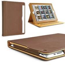 Business Cover für iPad 2 3 4 Etui Smart Schutz Hülle Tasche Kunst-Leder braun