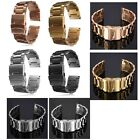 18/20/22MM Stainless Steel Watch Band Strap Double Lock Bracelet Straight End
