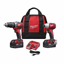 Milwaukee 2697-22 M18 18-Volt 1/2-Inch 2-Tool Combo Kit Includes Charger Batt...