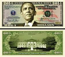 BARACK OBAMA 2014 BILLET COMMEMORATIF DOLLAR! Collection PRESIDENT des ETAT UNIS