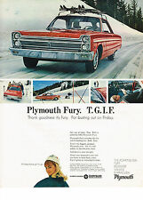 Vintage 1965 Magazine Ad Plymouth Get Out Of Town Fast With Powerful 1965 Fury