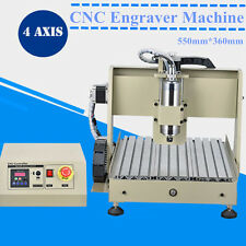 800W 4 AXIS CNC 3040 ROUTER DRILLING&MILLING ENGRAVER MACHINE 3D CUT ENGRAVING