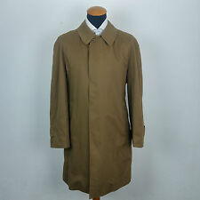 Vintage Burberry Raincoat size 42R Mac Trench Coat Brown Terylene Cotton gr. 52