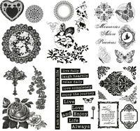New Kaisercraft Clear Cling Unmounted Rubber Stamp Craft Set Choice Designs