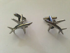 boeing 737-400  c11 Fighter Plane Aircraft Fine English Pewter Cufflinks Jet