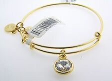 Alex and Ani Gold April Birthstone Bangle Bracelet NWT MOM DAUGHTER NEW GIFT
