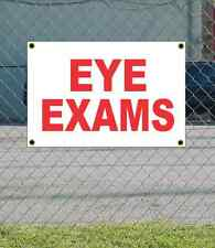 2x3 EYE EXAMS Red & White Banner Sign NEW Discount Size & Price FREE SHIP
