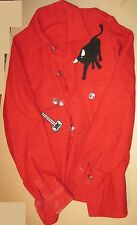 "BSA Red Wool Coat with Large 6"" 1969 Idaho Jamboree Patch, Philmont Bull, ..."