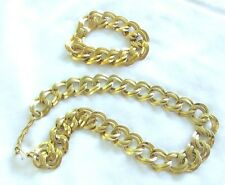 VTG LOVELY MONET GOLDTONE CHAIN NECKLACE & MATCHING BRACELET